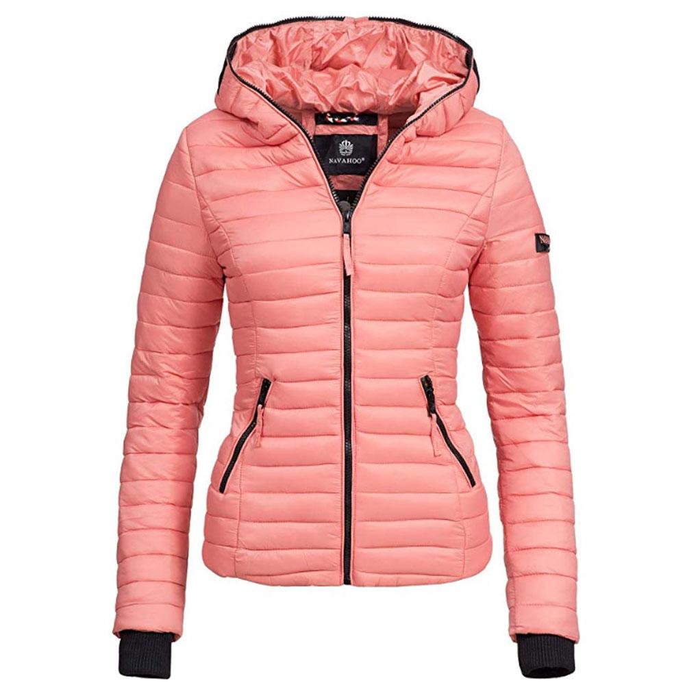DESIRES Annabelle Damen /Übergangsjacke Parka Mantel warme Jacke gef/üttert mit Kapuze